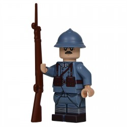 Lego United Bricks - WW1 French (Mid-Late War) Minifigure