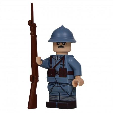 Lego United Bricks - WW1 French (Mid-Late War) Minifigure