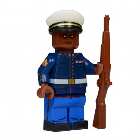 Lego United Bricks - U.S. Marine in Dress Blues (Brown) Minifigure