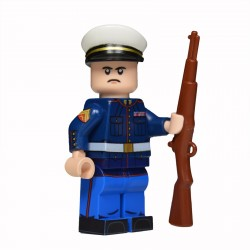 Lego United Bricks - U.S. Marine Habit Bleu (Chair) Minifigure