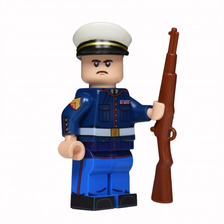 Lego United Bricks - U.S. Marine in Dress Blues (Light Flesh) Minifigure