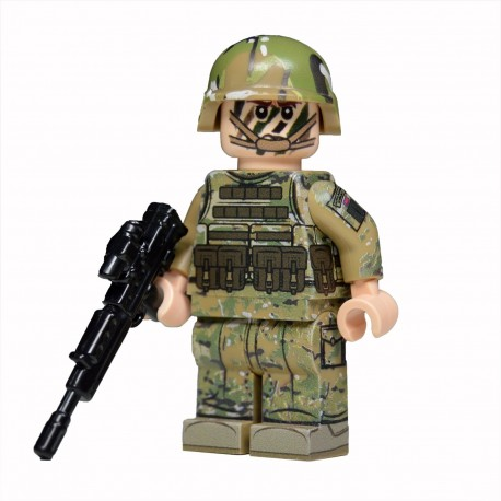 Lego United Bricks - Royal Marine Commando (Light Flesh) Minifigure