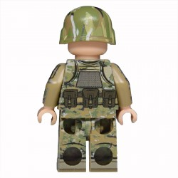 Lego United Bricks - Royal Marine Commando (Light Flesh) Minifigure