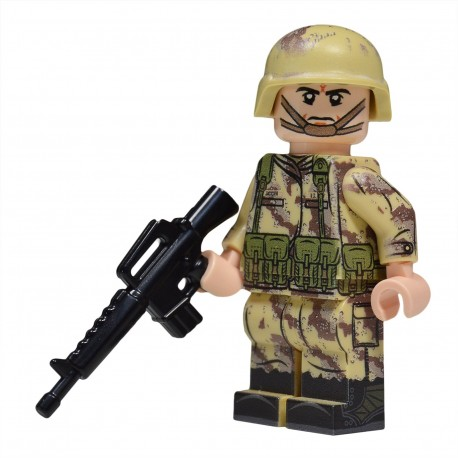 Lego United Bricks - Gulf War American Soldier Minifigure