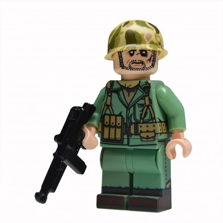 Lego United Bricks - WW2 Soldat Américain Marine NCO Minifigure
