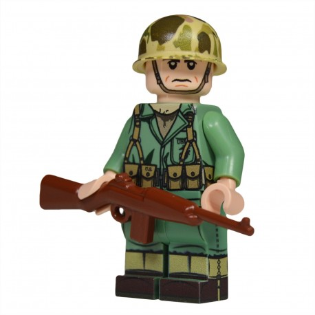 Lego United Bricks - WW2 Soldat Américain Marine Rifleman Minifigure