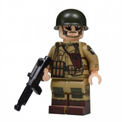 Lego United Bricks - WW2 Sous-officier Parachutiste Américain NCO Minifigure