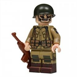 Lego United Bricks - WW2 Sous-officier Parachutiste Américain Minifigure