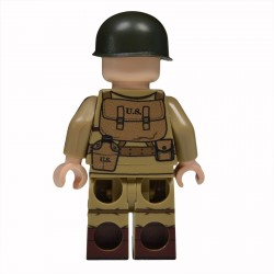 Lego United Bricks - WW2 Sous-officier Parachutiste Américain Minifigure
