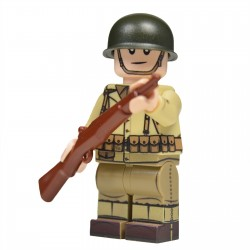 Lego United Bricks - WW2 U.S. Army Rifleman Minifigure