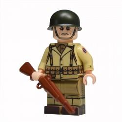 Lego United Bricks - WW2 442e Régiment d'infanterie Américaine Minifigure