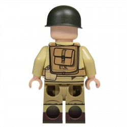 Lego United Bricks - WW2 442e Régiment d'infanterie Américaine Minifigure