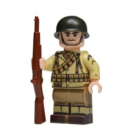 Lego United Bricks - WW2 Ranger de l'Armée Américaine Minifigure