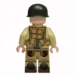 Lego United Bricks - WW2 Ranger de l'Armée Américaine Minifigure