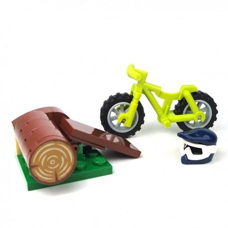 LEGO® - Vélo Cross avec un casque et un tremplin