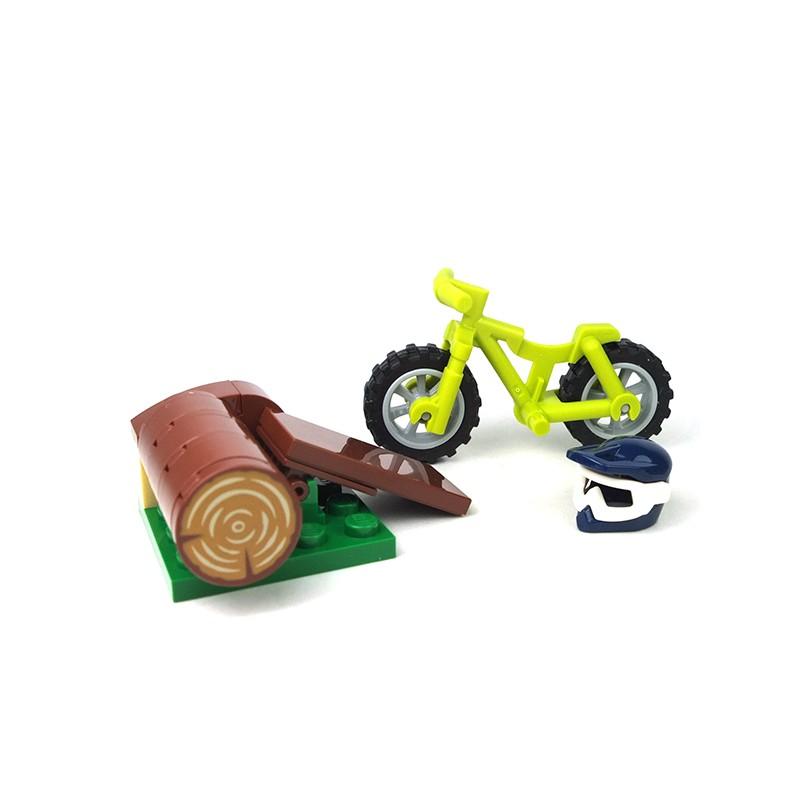 Lego Accessoires Minifig Vélo Cross Avec Un Casque Et Un Tremplin