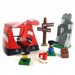 LEGO® - Camping set : tent,stove,climbing rock