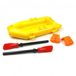LEGO® - Bateau Rafting, 2 gilets, 2 pagaies Minifigure