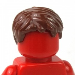 LEGO® Minifigure - Reddish Brown Minifig, Hair Short Tousled with Side Part