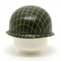 United Bricks - WW2 M1 Pot Helmet With Netting (Green)