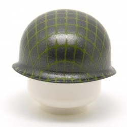 United Bricks - WW2 M1 Pot Helmet With Netting (Gunmetal)