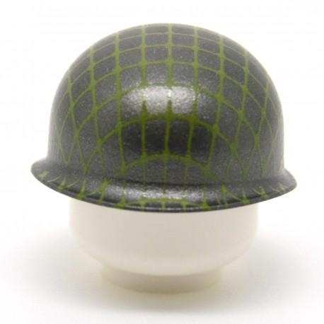 United Bricks - WW2 M1 Pot Helmet With Netting (Gunmetal)