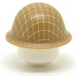 United Bricks - WW2 T-90 Helmet With Netting (Dark Tan)