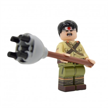 United Bricks - WW2 Japanese Soldier with Lunge Mine Minifigure