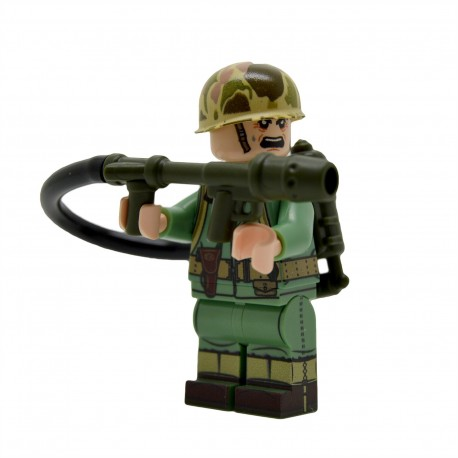 United Bricks -WW2 U.S.Marine avec lance-flammes Minifigure