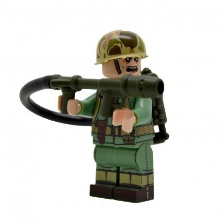United Bricks - WW2 U.S.Marine With Flamethrower Minifigure