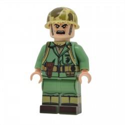 United Bricks -WW2 U.S.Marine avec lance-flammes Minifigure