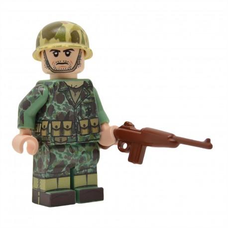 United Bricks - WW2 U.S.Marine Carabinier en camouflage peau de grenouille Minifigure