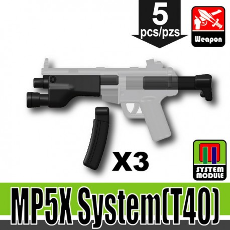 Lego Accessories Minifigure Military - Si-Dan Toys - MP5X System T40 (Black)