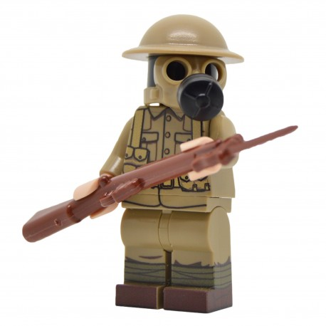 United Bricks - WW1 British Soldier with Gasmask Minifigure