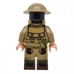 Lego United Bricks - WW1 Soldat Britannique avec masque à gaz Minifigure