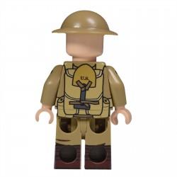 United Bricks - WW1 Soldat Américain Minifigure