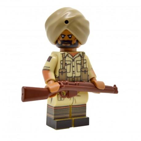 United Bricks - WW2 British Indian (Desert) Minifigure lego