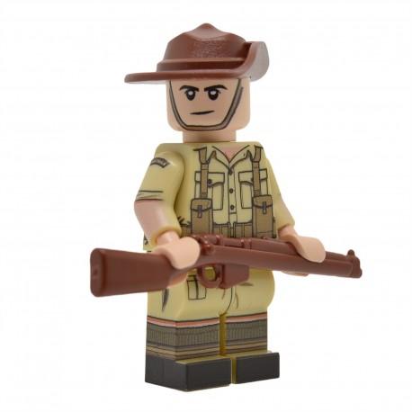 United Bricks - WW2 Australian (Desert) Minifigure lego