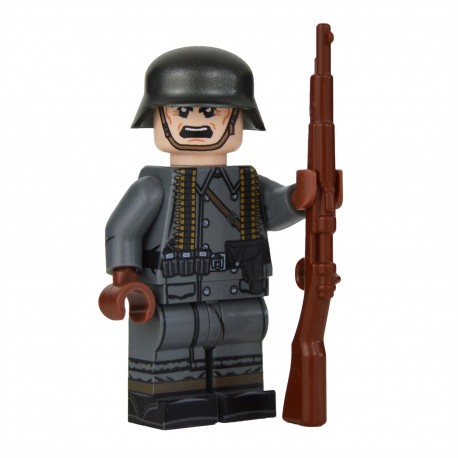 United Bricks - WW2 Greatcoat German MG Assistant Minifigure lego armée militaire