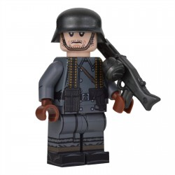 United Bricks - WW2 Greatcoat German MG Gunner Minifigure lego militaire armée