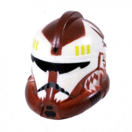 Lego Minifigure Clone Army Customs - Recon Commander Wolffe Dark Red Helmet