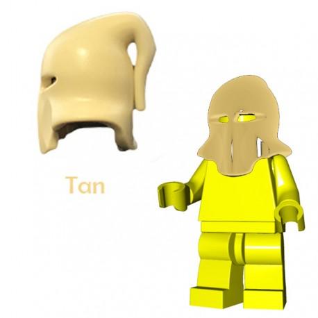 Lego Accessoires Minifigure Brick Warriors - Cagoule Bourreau (Beige)