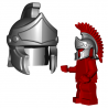 Lego Minifigure Accessories Brick Warriors - Greco Roman Helmet (Steel)