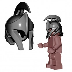 Lego Minifigure Accessories Brick Warriors - Elf Helmet (Steel)