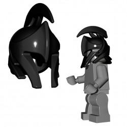 Lego Accessoires Minifigure Brick Warriors - Casque d'Elfe (Noir)