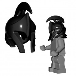 Lego Minifigure Accessories Brick Warriors - Elf Helmet (Black)