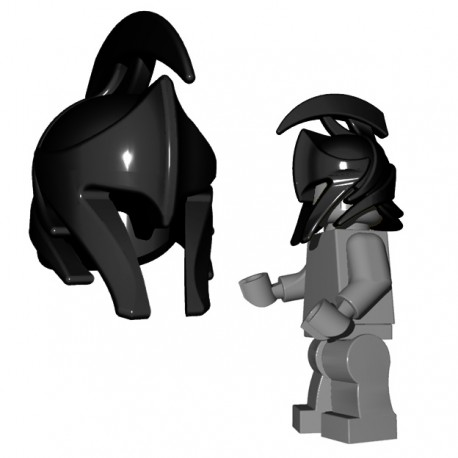Lego Minifigure Accessories Brick Warriors - Elf Helmet (Black)