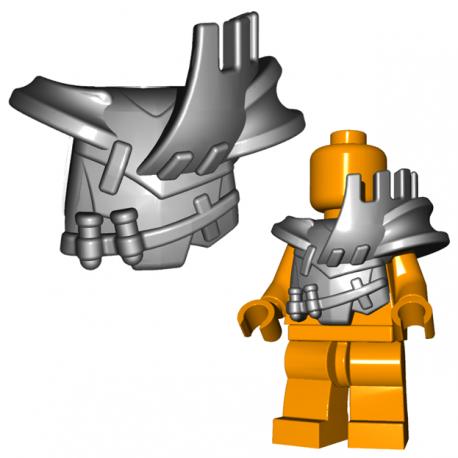 Lego Minifigure BrickWarriors - Armure Orc (Steel)