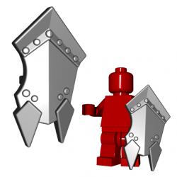 Lego Minifigure Brick Warriors - Bouclier d'Orc (Steel)