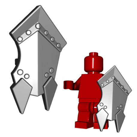 Lego Minifigure Brick Warriors - Bouclier d'Orc (Steel)